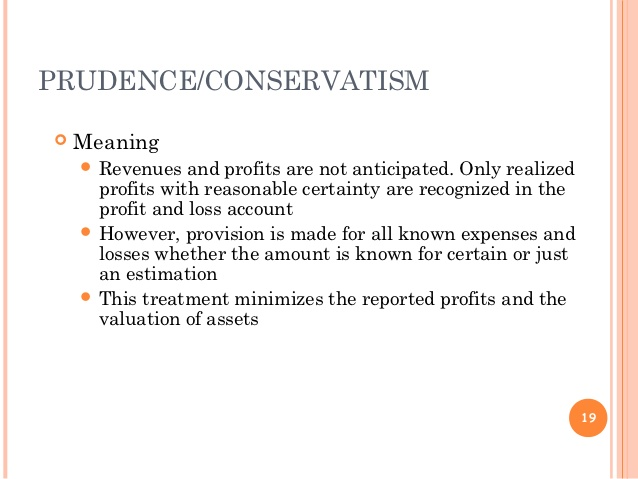 Prudence Concept Accounting